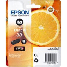 Eredeti Epson 33 fotó fekete patron