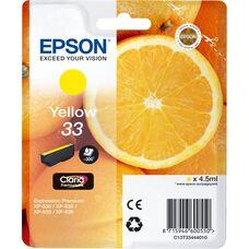 Eredeti Epson 33 sárga patron