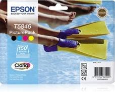 Eredeti Epson T5846 fotócsomag (patron + 150ív 10x15 fotópapír)