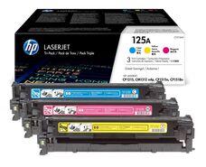 Eredeti HP 125A színes kit (CF373AM 1-1db ciánkék, magenta és sárga toner)