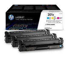 Eredeti HP 201X színes kit (CF253XM 1-1db ciánkék, magenta és sárga toner)